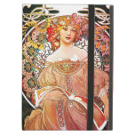 Alphonse Mucha Daydream Floral Vintage Art Nouveau Cover For iPad Air