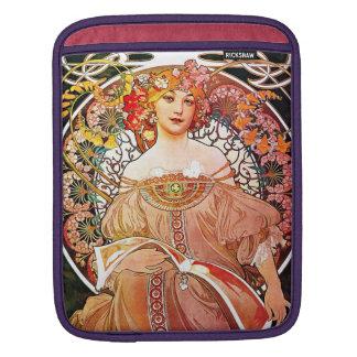 Alphonse Mucha Daydream Floral Vintage Art Nouveau iPad Sleeve