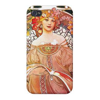 Alphonse Mucha Daydream Floral Vintage Art Nouveau iPhone 4/4S Cases
