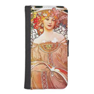 Alphonse Mucha Daydream Floral Vintage Art Nouveau iPhone SE/5/5s Wallet Case