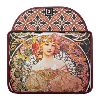 Alphonse Mucha Daydream Floral Vintage Art Nouveau MacBook Pro Sleeve