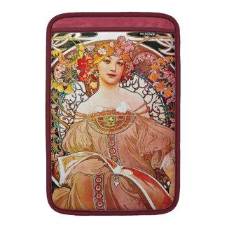 Alphonse Mucha Daydream Floral Vintage Art Nouveau MacBook Sleeve