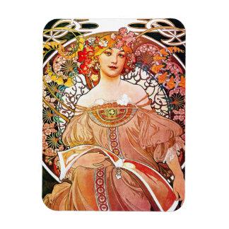 Alphonse Mucha Daydream Floral Vintage Art Nouveau Magnet