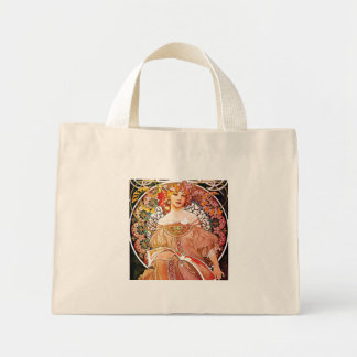 Alphonse Mucha Daydream Floral Vintage Art Nouveau Mini Tote Bag