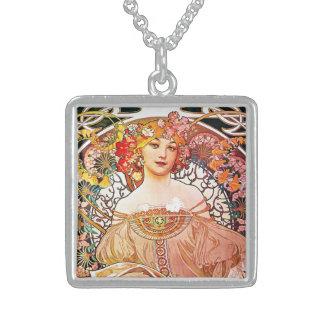 Alphonse Mucha Daydream Floral Vintage Art Nouveau Custom Jewelry