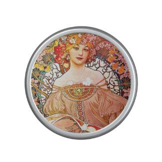 Alphonse Mucha Daydream Floral Vintage Art Nouveau Speaker