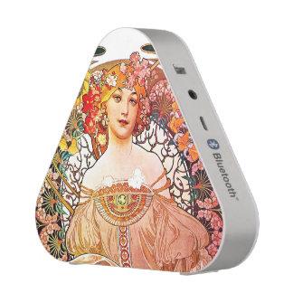 Alphonse Mucha Daydream Floral Vintage Art Nouveau Bluetooth Speaker