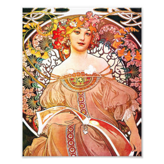 Alphonse Mucha Daydream Floral Vintage Art Nouveau Art Photo