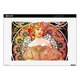 "Alphonse Mucha Daydream Floral Vintage Art Nouveau Skins For 15"" Laptops"
