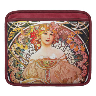 Alphonse Mucha Daydream Floral Vintage Art Nouveau Sleeve For iPads