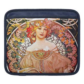 Alphonse Mucha Daydream Floral Vintage Art Nouveau Sleeve For iPads