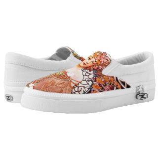 Alphonse Mucha Daydream Floral Vintage Art Nouveau Slip-On Sneakers