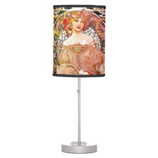 Alphonse Mucha Daydream Floral Vintage Art Nouveau Table Lamp