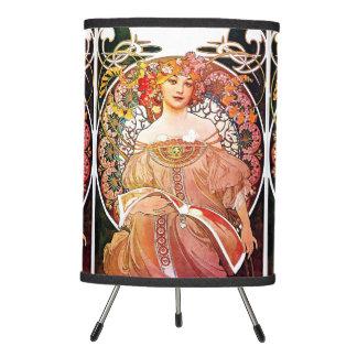 Alphonse Mucha Daydream Floral Vintage Art Nouveau Tripod Lamp