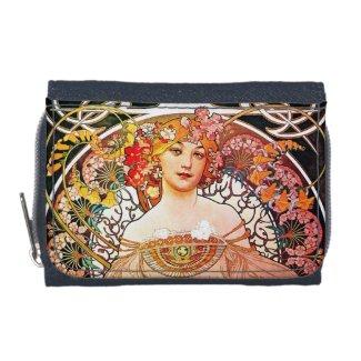 Alphonse Mucha Daydream Floral Vintage Art Nouveau Wallets