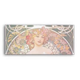 Alphonse Mucha Daydream Reverie Art Nouveau Lady Envelope