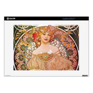 Alphonse Mucha Daydream Reverie Art Nouveau Lady Skin For Laptop