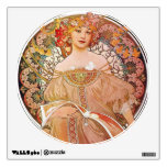 Alphonse Mucha Daydream Reverie Art Nouveau Lady Room Decal