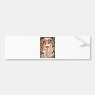 Alphonse Mucha: Daydream (Rêverie) Bumper Sticker