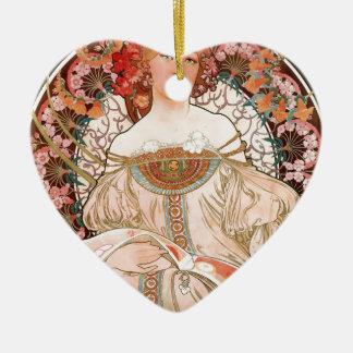 Alphonse Mucha: Daydream (Rêverie) Ceramic Ornament