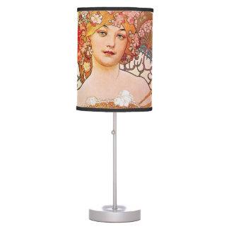 Alphonse Mucha Daydream Reverie Desk Lamp