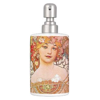 Alphonse Mucha Daydream Reverie Soap Dispenser & Toothbrush Holder
