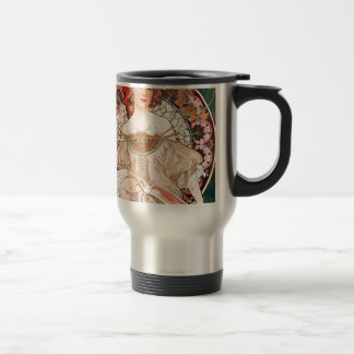 Alphonse Mucha: Daydream (Rêverie) Travel Mug