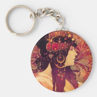Alphonse Mucha Donna Orechini Key Chain