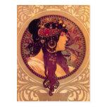 Alphonse Mucha - Donna Orechini Postcard