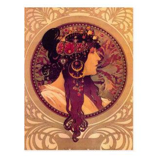 Alphonse Mucha - Donna Orechini Postcards