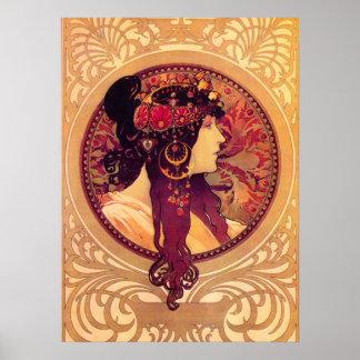 Alphonse Mucha Donna Orechini Poster