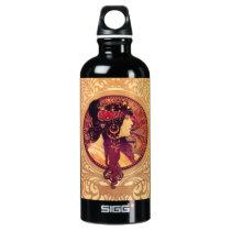 Alphonse Mucha Donna Orechini Water Bottle