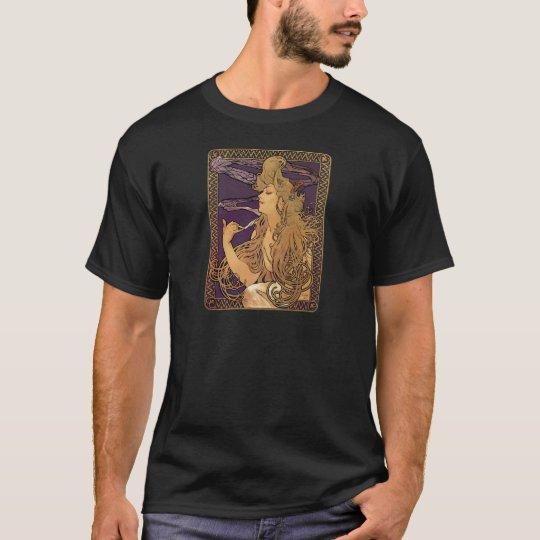 Alphonse Mucha Elegant Woman Artwork T-Shirt