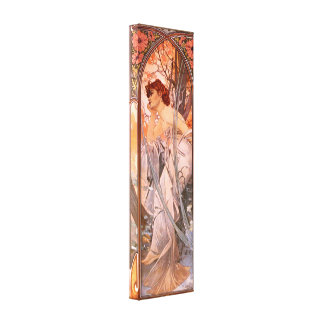 Alphonse Mucha Evening Reverie Canvas Poster