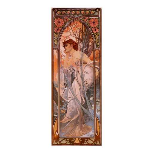 Alphonse Mucha Evening Reverie Poster