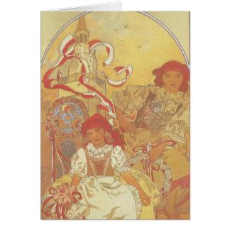 Alphonse Mucha - Exhibition 1913 Card