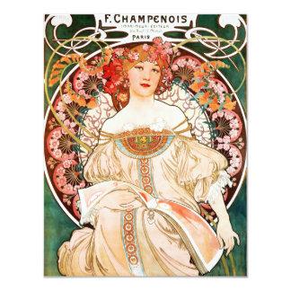 Alphonse Mucha F. Champenois Invitations