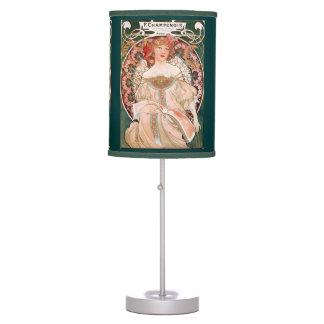Alphonse Mucha F. Champenois Painting Desk Lamp