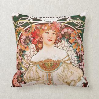 Alphonse Mucha F. Champenois Pillow