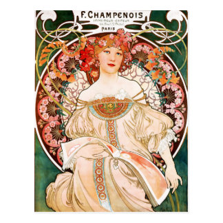 Alphonse Mucha F. Champenois Postcard