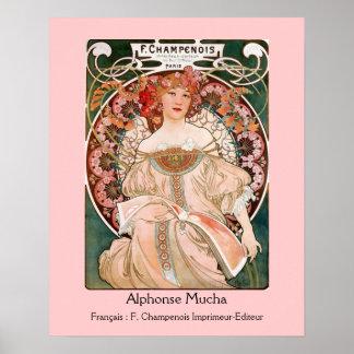 Alphonse Mucha F. Champenois Poster