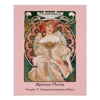 Alphonse Mucha F. Champenois Print