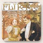 Alphonse Mucha Flirt Art Nouveau Coaster Set