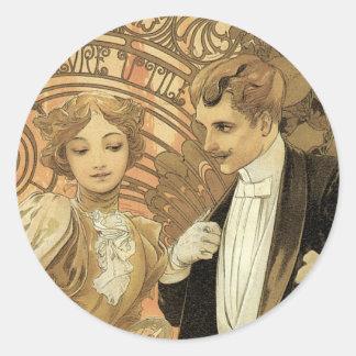 "Alphonse Mucha ""Flirt"" Stickers"