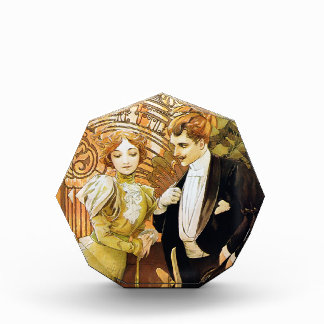 Alphonse Mucha Flirt Vintage Romantic Art Nouveau Award