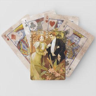Alphonse Mucha Flirt Vintage Romantic Art Nouveau Bicycle Playing Cards