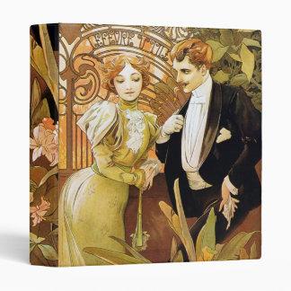 Alphonse Mucha Flirt Vintage Romantic Art Nouveau Binder