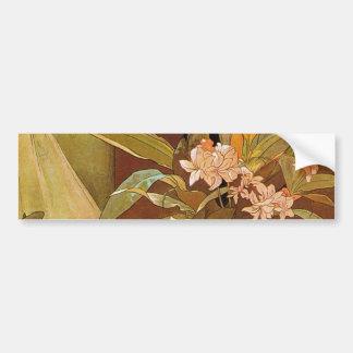 Alphonse Mucha Flirt Vintage Romantic Art Nouveau Bumper Sticker