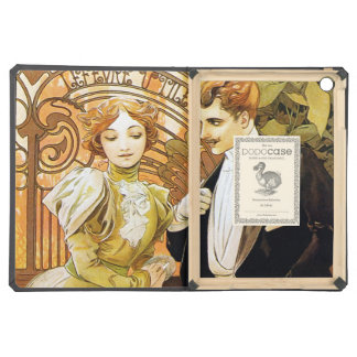 Alphonse Mucha Flirt Vintage Romantic Art Nouveau iPad Air Covers