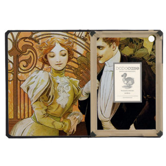 Alphonse Mucha Flirt Vintage Romantic Art Nouveau iPad Mini Covers